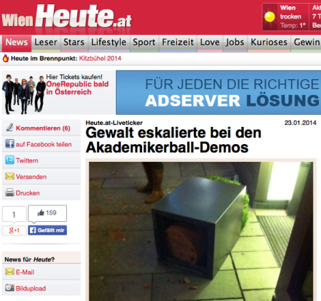 """Gewalt"" eskalation beim Winer Akademikerball 2014"